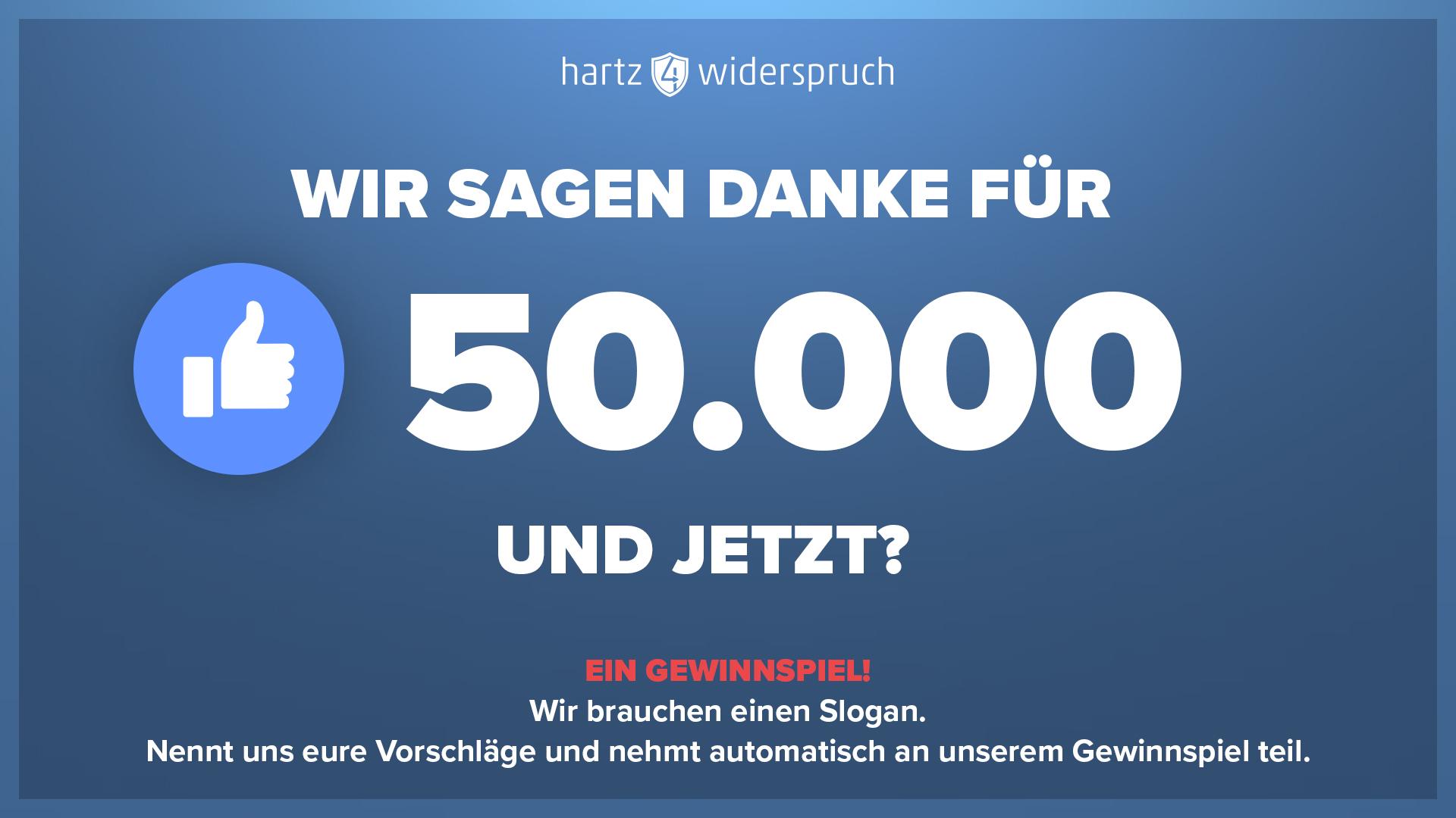 50.000 Likes | Ein Slogan Für Uns & Die PlayStation 4 Für Dich.