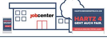 Kampagne von hartz4widerspruch.de vor den Jobcentern