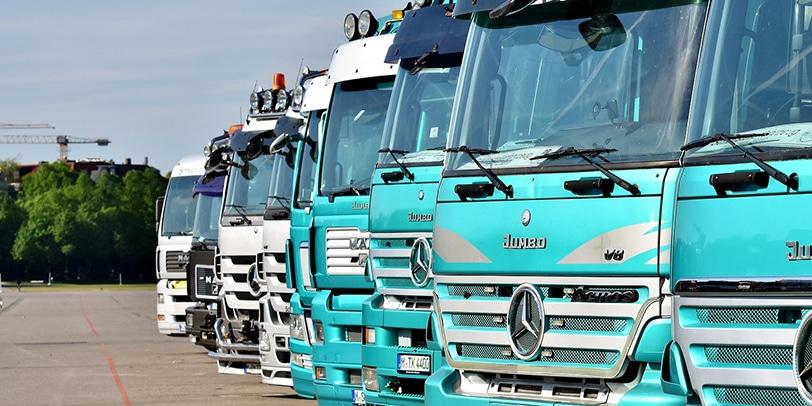 Lastwagen Probearbeit