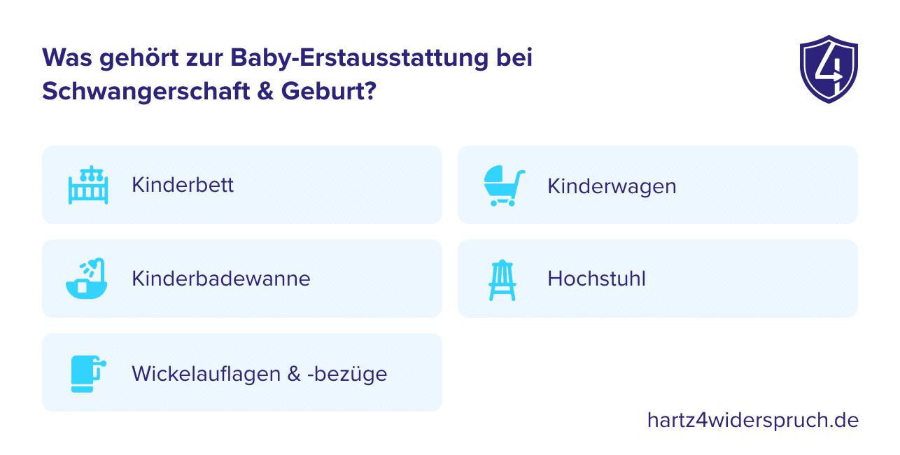 Was gehört zur Baby-Erstausstattung bei Schwangerschaft & Geburt?