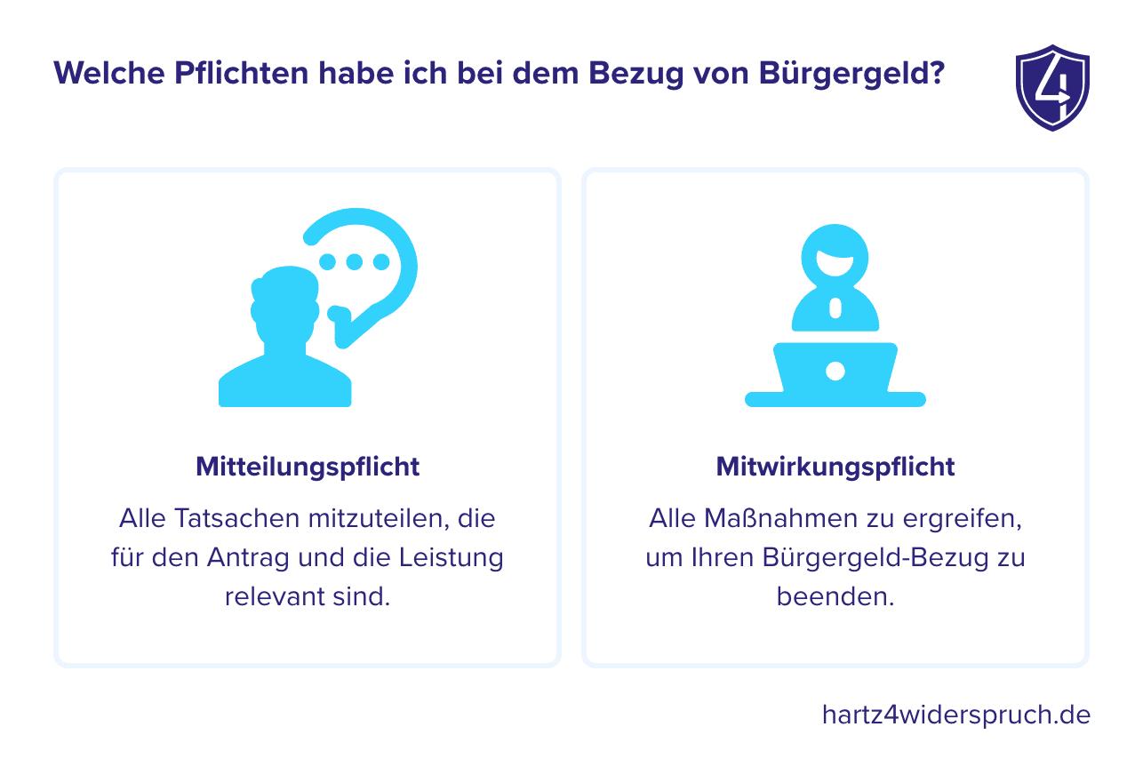 Welche Pflichten habe ich bei dem Bezug von Hartz 4?
